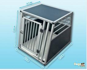 Aluminium Hunde-Transportbox Inbus-Verschraubung 92 x 65 x 68 cm