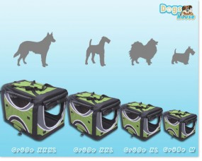 Faltbare Hunde-Transportbox 4-farbig Grün