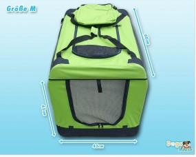 Faltbare Hunde-Transportbox Grün-Schwarz