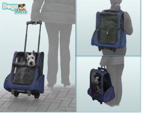 Transport-Trolley für Hund oder Katze Blau in Größe XL