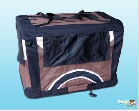 Faltbare Hunde-Transportbox 4-farbig Braun